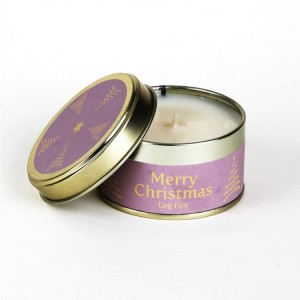 Pintail Merry Christmas Candle - Log Fire
