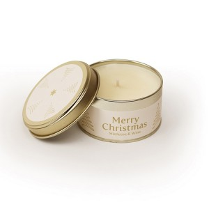 Pintail Merry Christmas Candle - Mistletoe & Wine