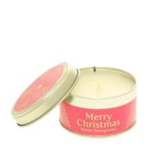 Pintail Merry Christmas Candle - Winter Pomegranate